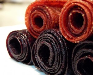 Homemade Strawberry or Blueberry Foot Long Fruit Roll Ups