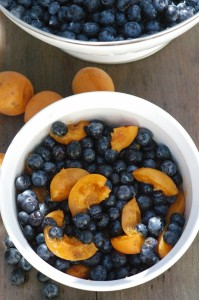 Whole Wheat Blueberry Apricot Crisp