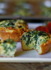 Mini Spinach Hash Brown Quiches