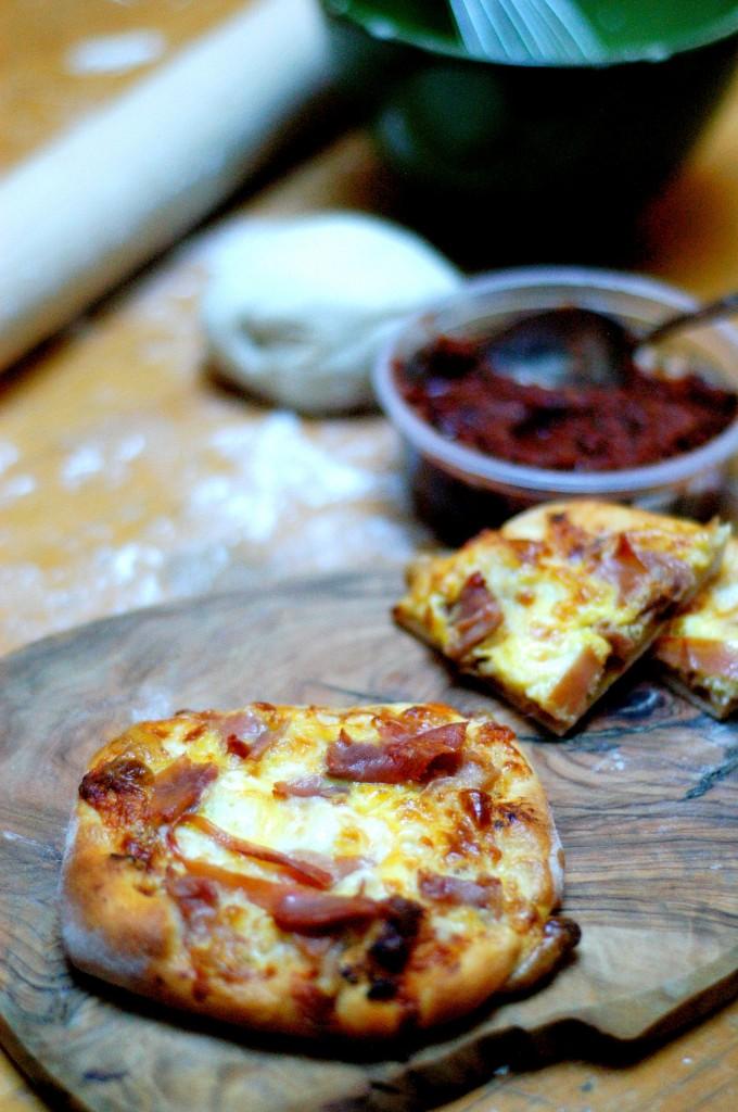 Individual Prosciutto Breakfast Pizzas